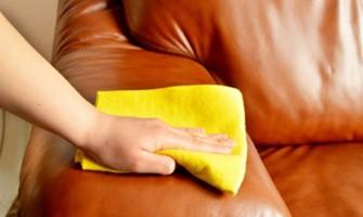 Чистка кожаных кресел и диванов